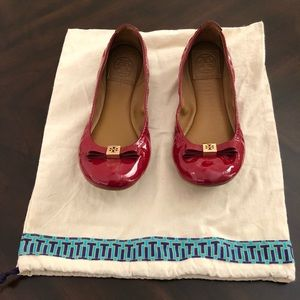 Tory Burch red flats, size 7